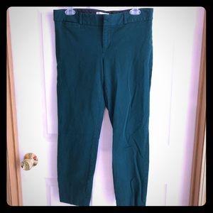 Banana Republic Green Sloan Slim Ankle Pants, 8
